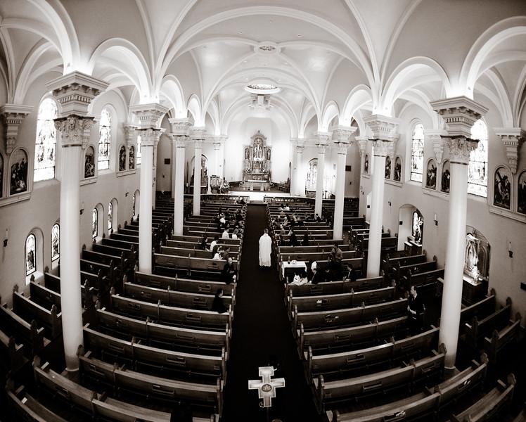 Catholic wedding at St. Marys Basilica in Phoenix, Arizona