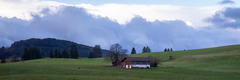 En route to Schwangau.  Rain threatened all day and fell at a couple of points.