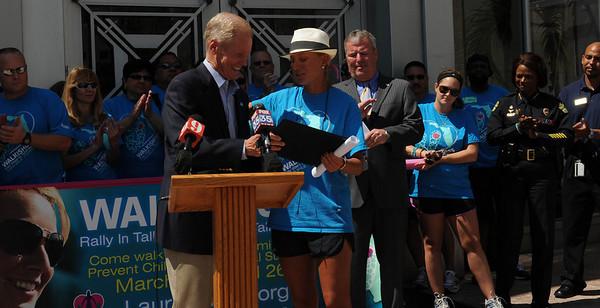 04-04-11 Lauren Book is Awarded the 'Congressional Medal of Merit' from Senator Bill Nelson by Joe Reilly