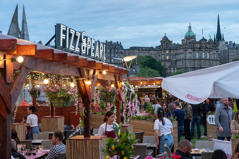 Beer garden in Edinburgh