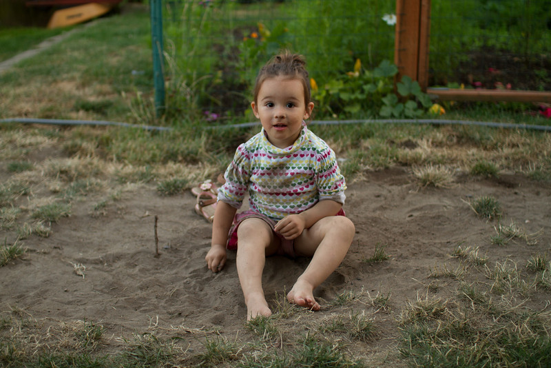 Playing in the dirt.