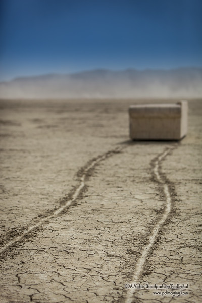 Someone dragged out a sofa out onto the playa . . . for reasons unknown.