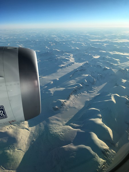Flying above the Arctic