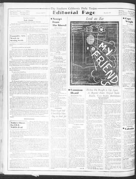 Daily Trojan, Vol. 28, No. 70, January 20, 1937