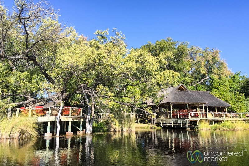 View of Camp Xakanaxa from the Water - Botswana