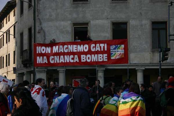"""""""No dal Molin"""" demonstration, Vicenza, Italy, 4th July 2007"""