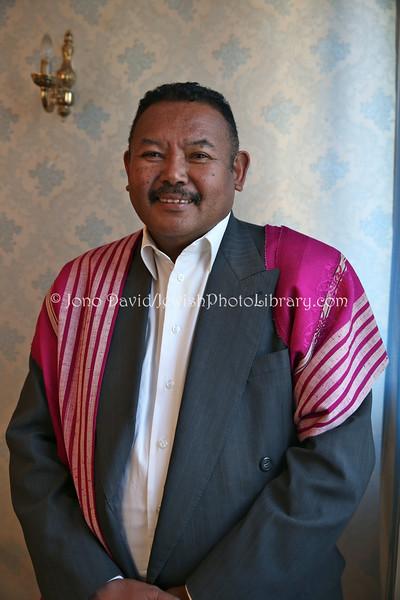 MADAGASCAR, Antananarivo. Raherimasoandro Hery Andriamamonjy, President of the Shalom Club of Madagascar (8.2014)