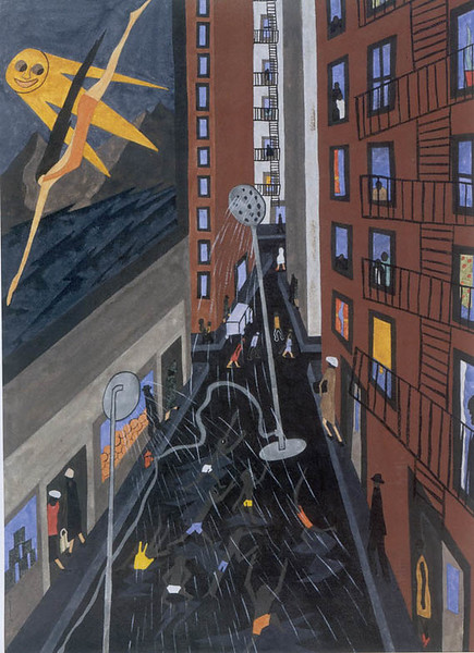 "Jacob Lawrence, ""Play Street,"" 1942"