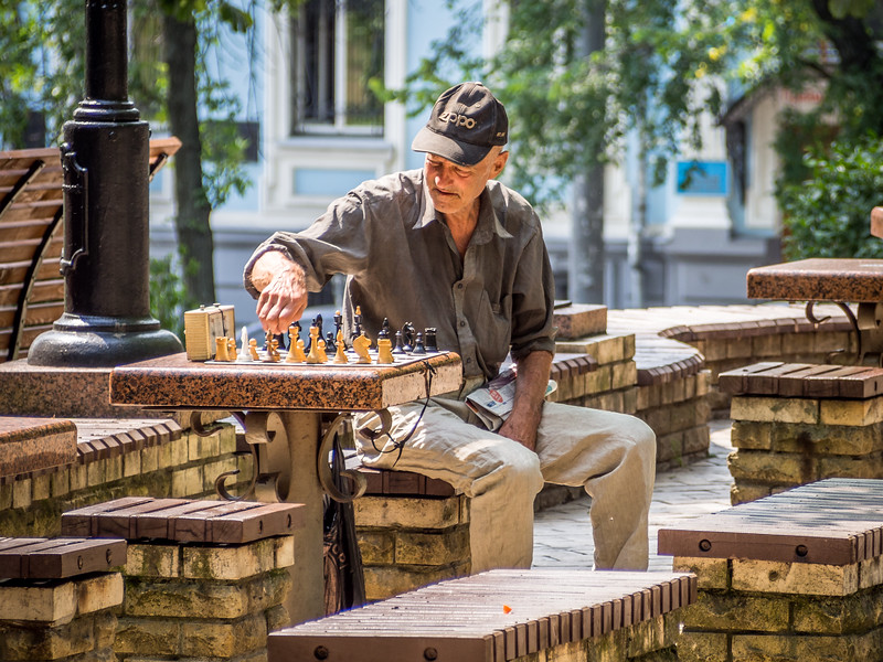 Lonely Chess Player, Kiev, Ukraine