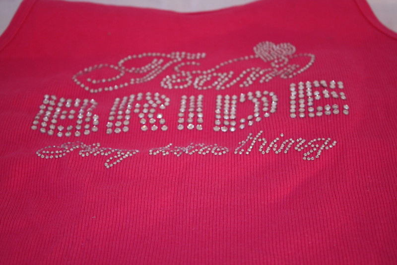 Victoria Secret's TEAM BRIDE Sexy Little thing tank top in hot pink with jeweled design.  Tried on and washed but not worn.  Size Large, $12