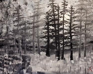 """""""Easy walk"""" (oil on canvas) by Mark Finnigan"""