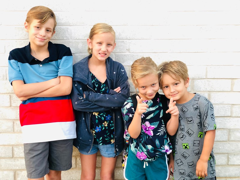 Steven, Sophie, Kate, Jack | 9th grade, 5th grade, 2nd grade, Kindergarten | Leander High School & Parkside Elementary.jpeg
