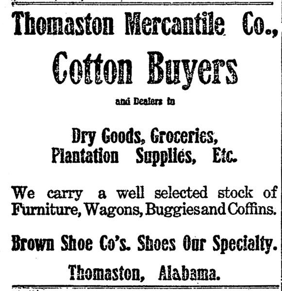 Thomaston Mercantile Co, advertisement