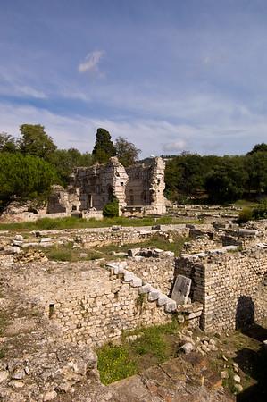 Europe, France, Provence, Nice , Musee de Archeologie, Roman bath