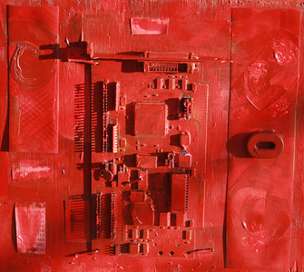 """Red #1"" (mixed media) by Tony Brown"