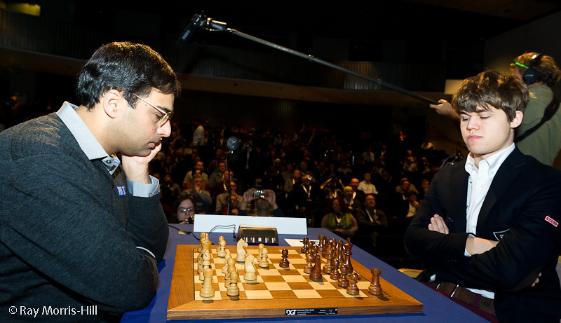 No comment from Vishy Anand in his Round 8 game against Magnus Carlsen
