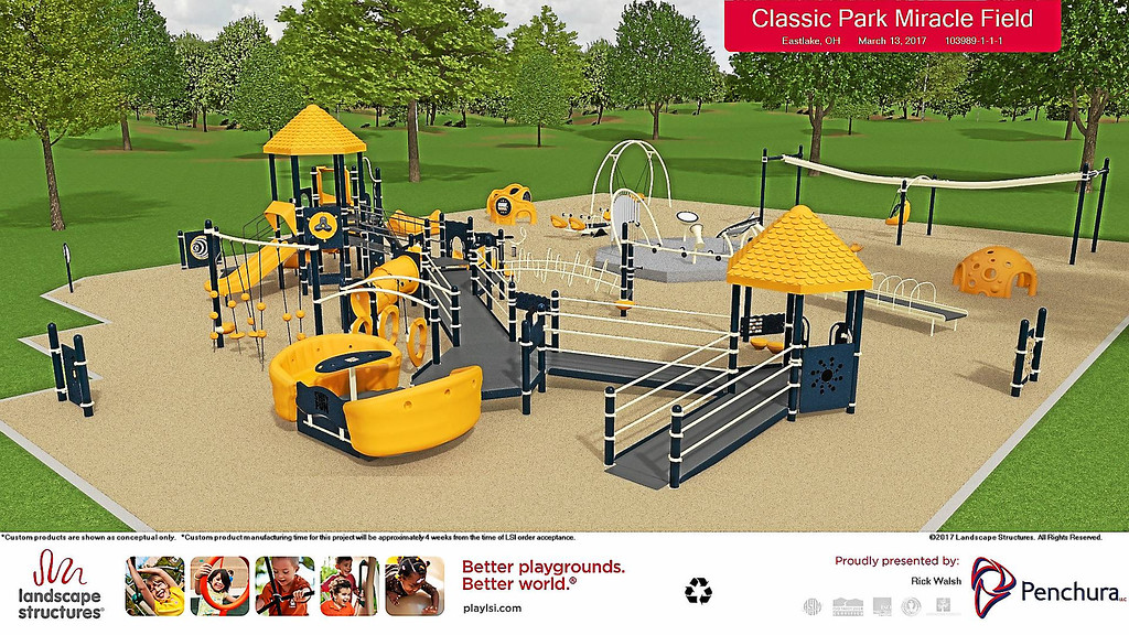 . Submitted <br> Computer rendering of planned inclusive playground to be installed with Miracle League Ballpark at Classic Stadium