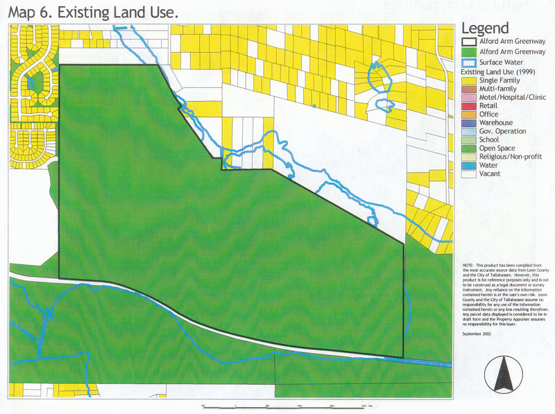 J. R. Alford September 2002 DRAFT Management Plan Map 6: Existing Land Use - since developed further, particularly SW corner between Pedrick Road and the RR tracks.