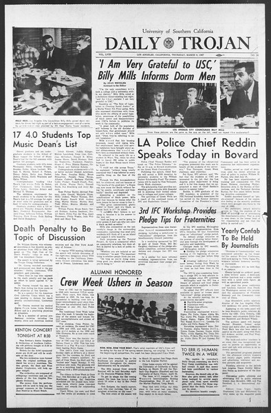 Daily Trojan, Vol. 58, No. 86, March 09, 1967