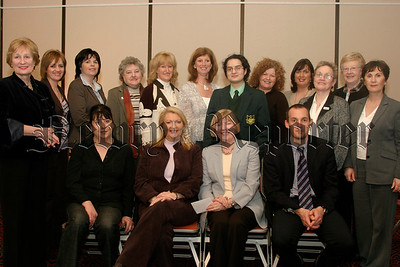 Soroptimists from Armagh & Down pictured at their meeting in the Sean Hollywood Arts centre, with Sre Corbett  (UTV) seated centre left, Maura Maginn  (president) seated centre, Dr John Harty (renal unit) ,and Sister Kay Donegan seated left.05W13N64.