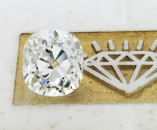3.76ct Antique Cushion Cut Diamond - AGS M, VS2