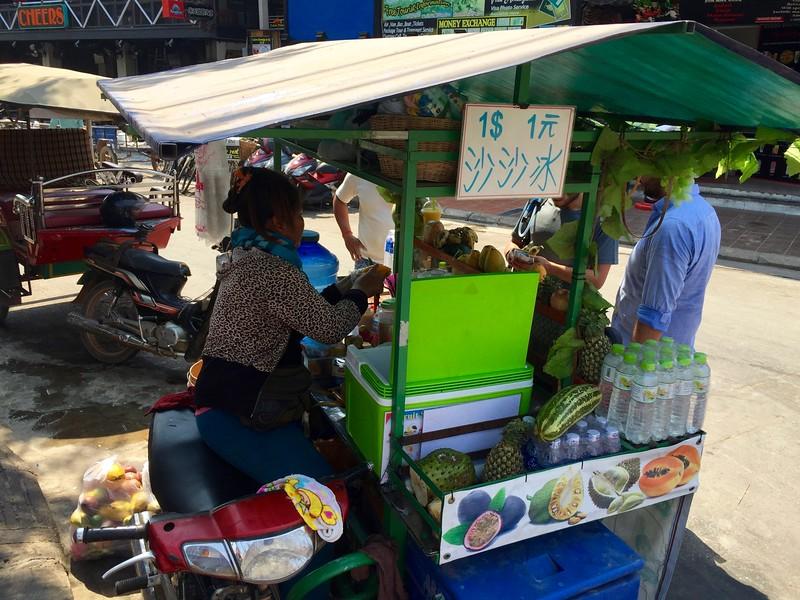 Siem Reap smoothie cart