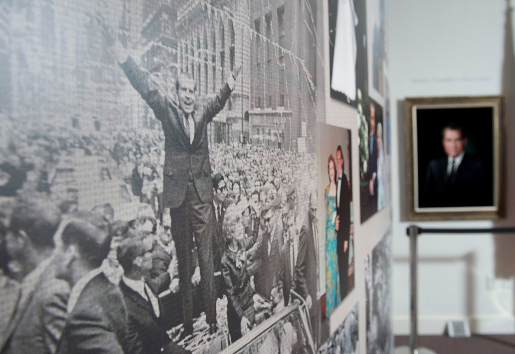 . The Richard Nixon Centennial Exhibit opened Friday at the Richard Nixon Presidential Library in Yorba Linda.  Items in the exhibit are pictured Feb. 13, 2013.   (SGVN/Staff photo by Leo Jarzomb)