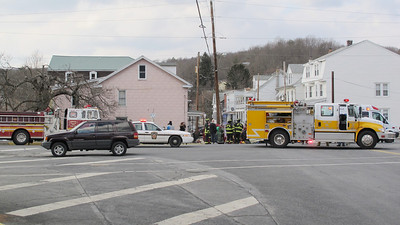 Two Vehicle Accident, US209, Middleport (3-20-2014)