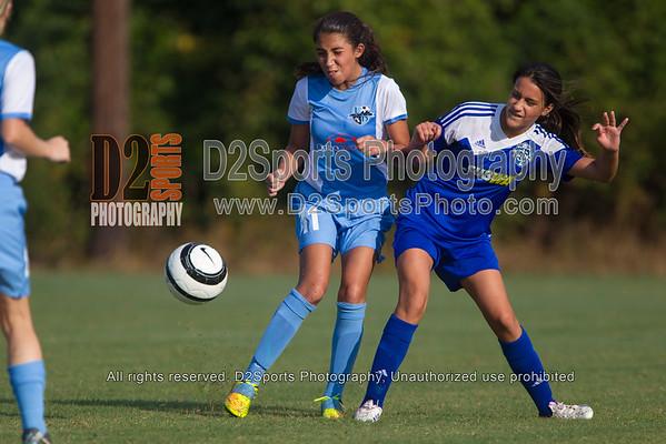 LAKE NORMAN SC UNITED PRIDE vs TCYSA 01 LADY TWINS BLUE - U13 Girls 8/17/2014
