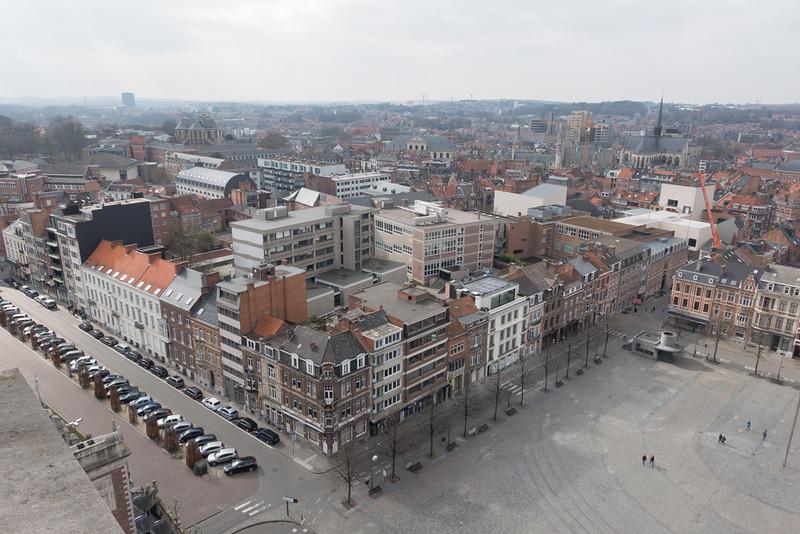 Leuven, gezien vanuit de universiteitsbibliotheek.