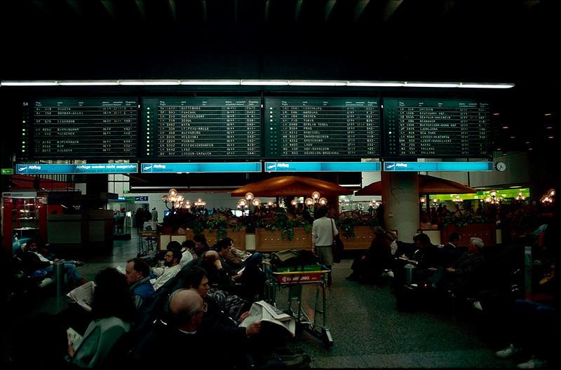 the big board in Frankfurt airport