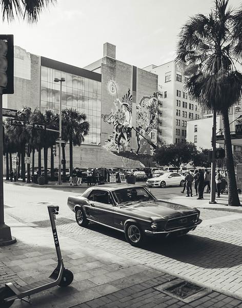 Vintage mustang Houston mural bnw.jpg