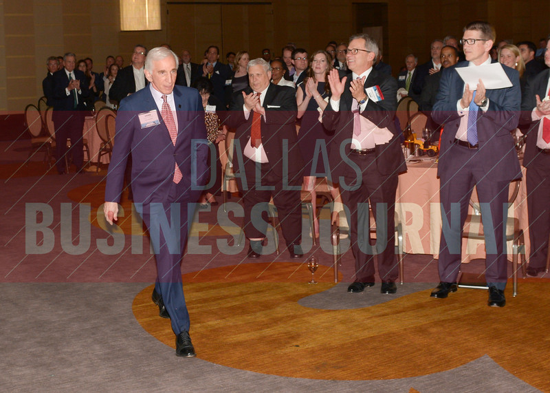 Herb Weitzman is greeted with a standing ovation as he walks to the stage to recieve his Best Real Estate Deals Lifetime Acheivement Award.