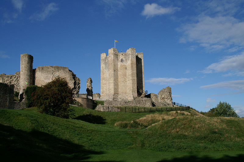 Conisbrough Castle's Keep - made famous in In Sir Walter Scott's novel, Ivanhoe.