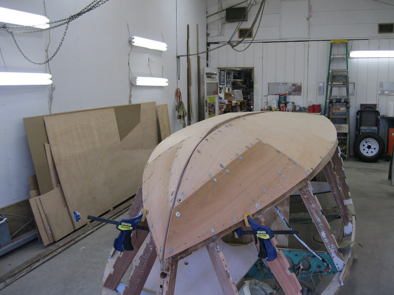 Front starboard view of third plywood layer.