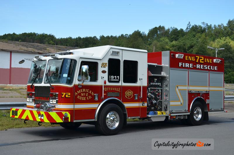 Pottsville (American Hose Co. 2) Engine 72: 2011 KME Panther 1500/500/30