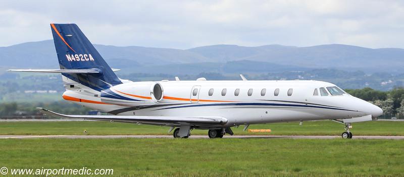N492CA Ce680 @ Glasgow Airport (EGPF)
