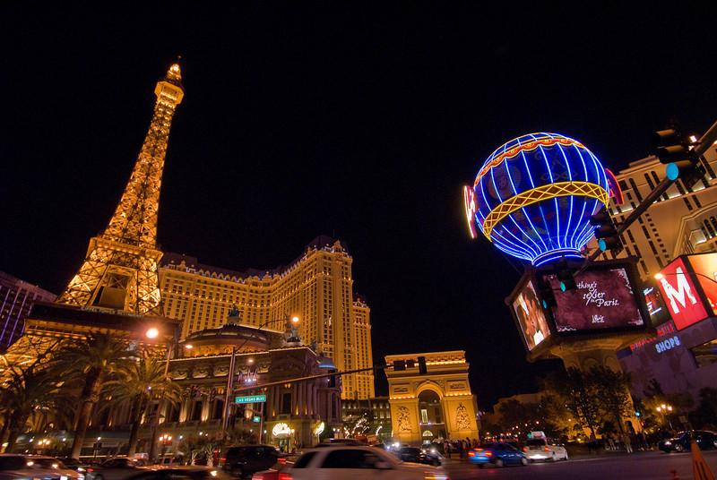Eiffel Tower at Paris Las Vegas Hotel and Casino in Las Vegas, Nevada