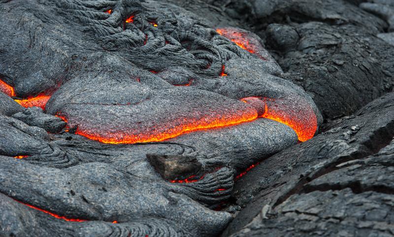 Kilauea Slow Moving Lava