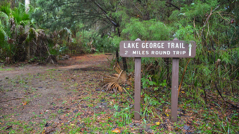 Sign Lake George Trail 2 miles