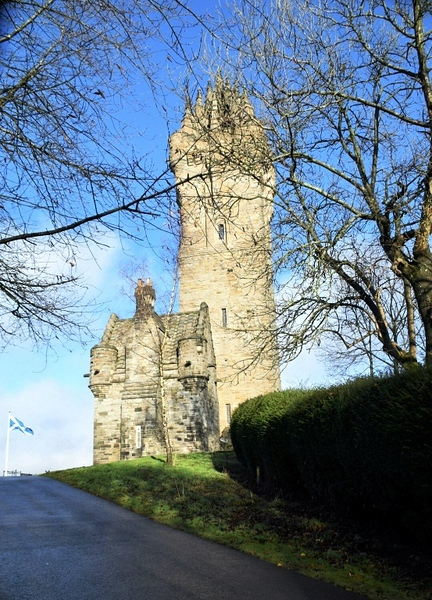 The Wallace Monument in Stirling, Scotland
