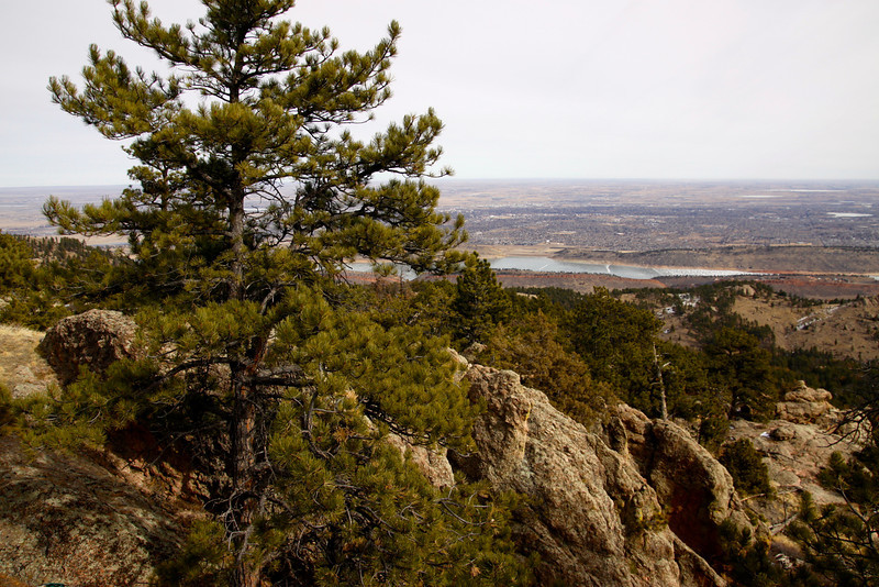 Horsetooth Reservoir and Fort Collins