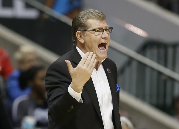 UConn women's basketball coach Geno Auriemma 10-24