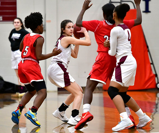1/30/2020 Mike Orazzi   Staff Bristol Central's Sophia Torreso (24) during Thursday night's girls game with Manchester in Bristol.
