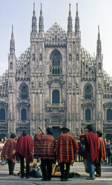 Chilean Buskers - Piazza del Duomo, Milan, Italy - 1991