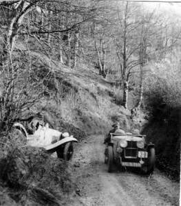 Irene & Bingley Cree, 1930 Car Trials in Southern England