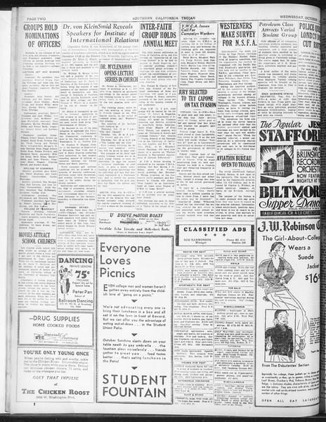 Daily Trojan, Vol. 23, No. 19, October 07, 1931