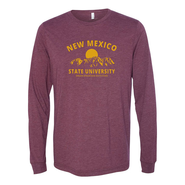 Organ Mountain Outfitters - Outdoor Apparel - Mens T-Shirt - New Mexico State University NMSU Long Sleeve Tee - Aggie Maroon Golden Yellow.jpg