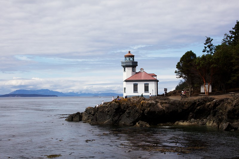 Lime Kiln Lighthouse. San Juan Island, Washington