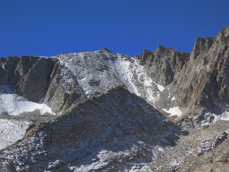 view of the switchbacks from Thor summit